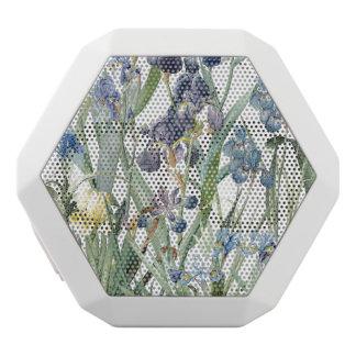 Botanical Blue Iris Flowers Floral Boombot