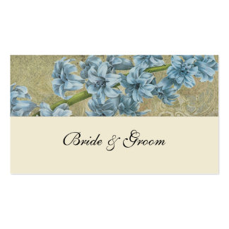 Botanical Blue Vintage Place Cards Double-Sided Standard Business Cards (Pack Of 100)