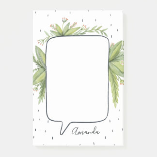 Botanical Bubble Personalized Post-it Notes