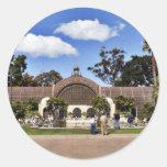 Botanical Building In Balboa Park In San Diego Round Sticker