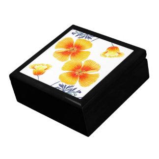 Botanical California Poppy Flowers Floral Gift Box