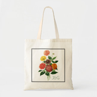 Botanical Colorful Flowers Bouquet Tote Bag