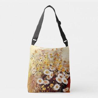 Botanical Daisy Flowers Wildflower Floral Meadow Crossbody Bag