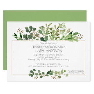 Botanical Dream Horizontal Wedding Invitations  