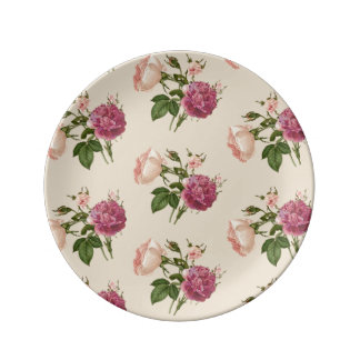 Botanical Floral Decorative Porcelain Plate
