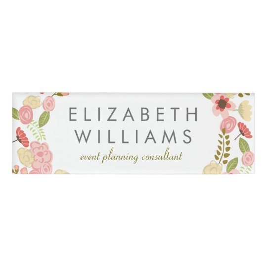 Botanical Floral Name Tag