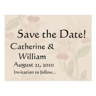 Botanical Flower Floral Wedding Nuptuals Garden Postcard