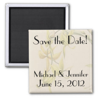 Botanical Flower Floral Wedding Nuptuals Garden Square Magnet