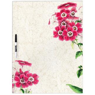 Botanical Flowers Floral Dry Erase Board