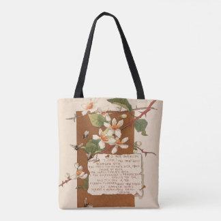 Botanical Flowers Floral Poem Bermuda Island Bag