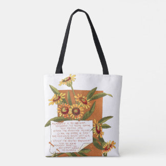 Botanical Flowers Floral Poem Bermuda Island Bag
