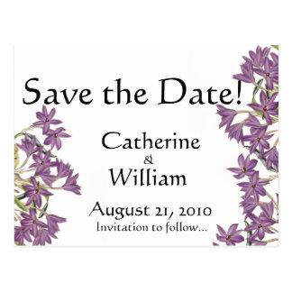 Botanical Flowers Floral Wedding Nuptuals Postcard