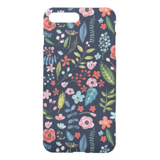 Botanical Flowers & Leafs Pattern iPhone 8 Plus/7 Plus Case