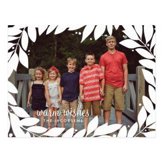 Botanical Frame Holiday Postcard