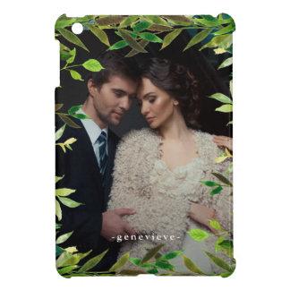 Botanical Frame with Photo and Name Case iPad Mini Cover