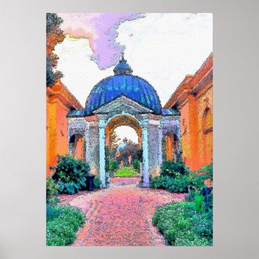 Botanical Garden, Fauvist Colors Poster