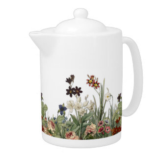 Botanical Garden Flowers Collection Tea Pot