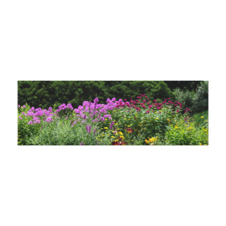Botanical Garden Flowers Stretched Canvas Prints