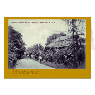 Botanical Garden Montserrat Card