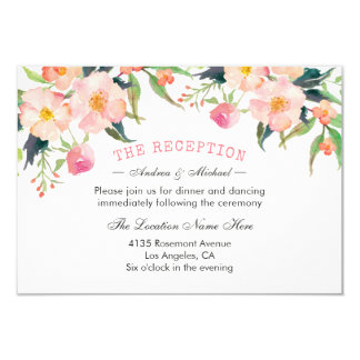Botanical Garden Watercolor Floral Reception Card
