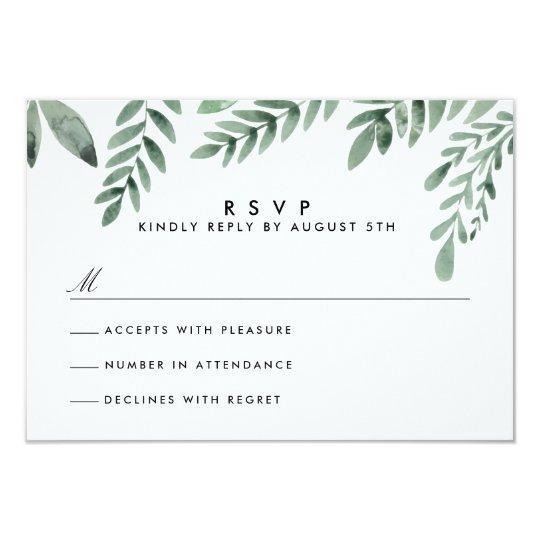 Botanical Garden Wedding RSVP Card