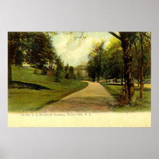Botanical Gardens, Bronx New York 1905 vintage Poster