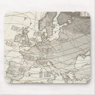Botanical geographical statistical map of Europe Mouse Pad