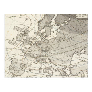 Botanical geographical statistical map of Europe Postcard