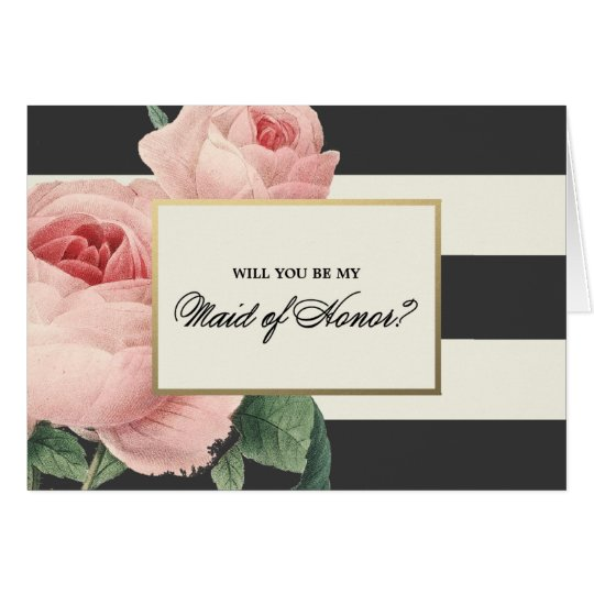 Botanical Glamour | Maid of Honour Card