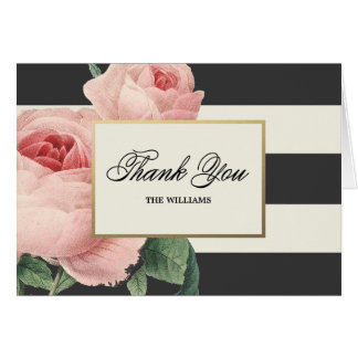 Botanical Glamour | Thank You Note Card