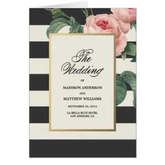 Botanical Glamour   Wedding Program Greeting Card