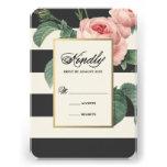 Botanical Glamour | Wedding Response Card Personalised Invite