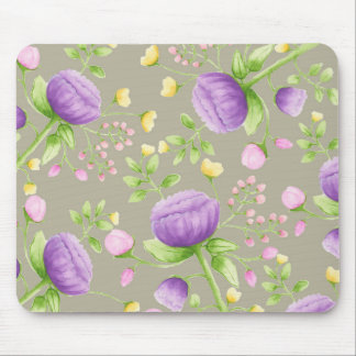 Botanical Gray Mouse Pad