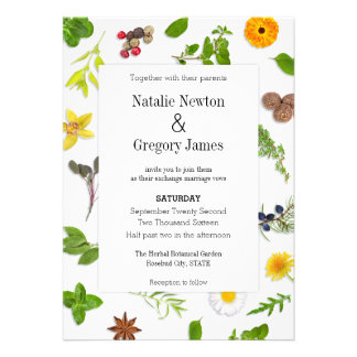 Botanical Herbs Wedding Invitation