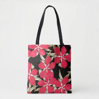 Botanical Hibiscus Flower Floral Bag