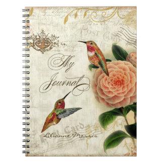 Botanical Hummingbirds Personalized Journal