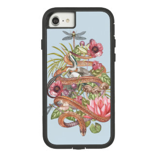 Botanical illustration of swamp theme with a snake Case-Mate tough extreme iPhone 8/7 case