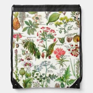 Botanical Illustrations - Larousse Plants Drawstring Backpacks