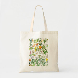 Botanical Illustrations - Larousse Plants Canvas Bags