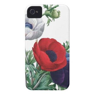BOTANICAL iPhone 4/4S case Poppy Anemones
