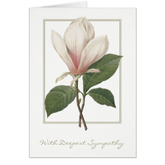 Botanical Magnolia With Deepest Sympathy Card