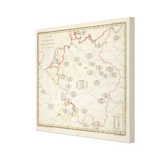 Botanical Map of Germany Canvas Print