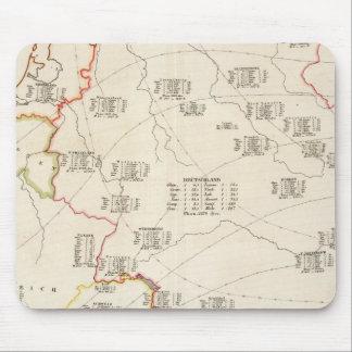 Botanical Map of Germany Mouse Mat