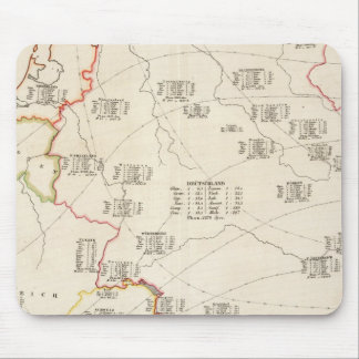 Botanical Map of Germany Mouse Pad