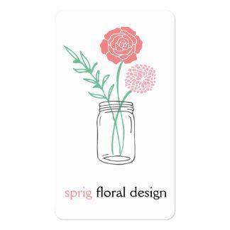 Botanical Mason Jar Business Cards
