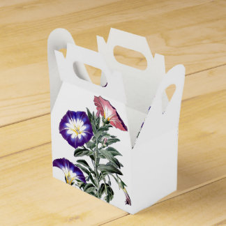 Botanical Morning Glory Flowers Floral Favor Box Favour Box