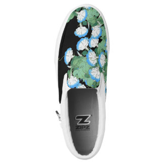 Botanical Morning Glory Flowers Floral Zipz Shoes Printed Shoes