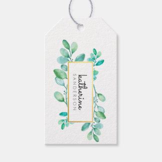 BOTANICAL NATURE modern watercolor painted leaves