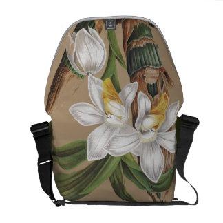Botanical Orchid Flowers Floral Messenger Bag