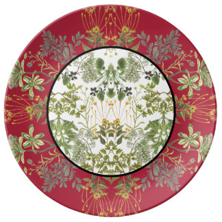 Botanical Patchwork Plate